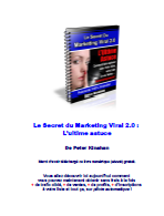 Le secret du marketing viral 2.0 - Ebook marketing